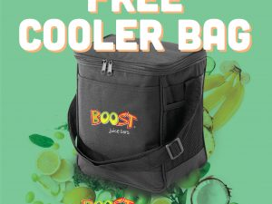 Free Boost Juice Cooler Bag