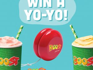 Win a Boost Juice yo-yo!