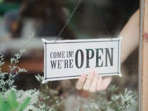 Welcome back – we're open!